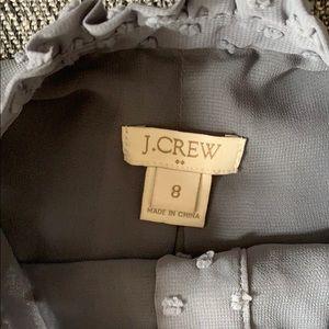 J. Crew Tops - Super Cute Grey Dot J.Crew Sleeveless Blouse